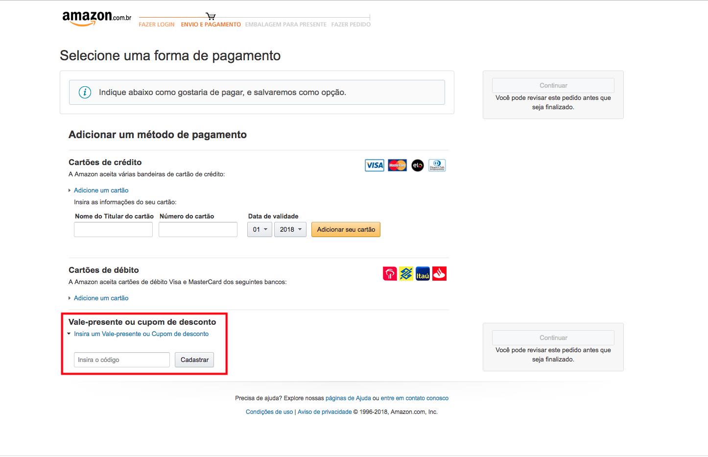 Aprenda como usar um cupom de desconto em uma oferta da Amazon