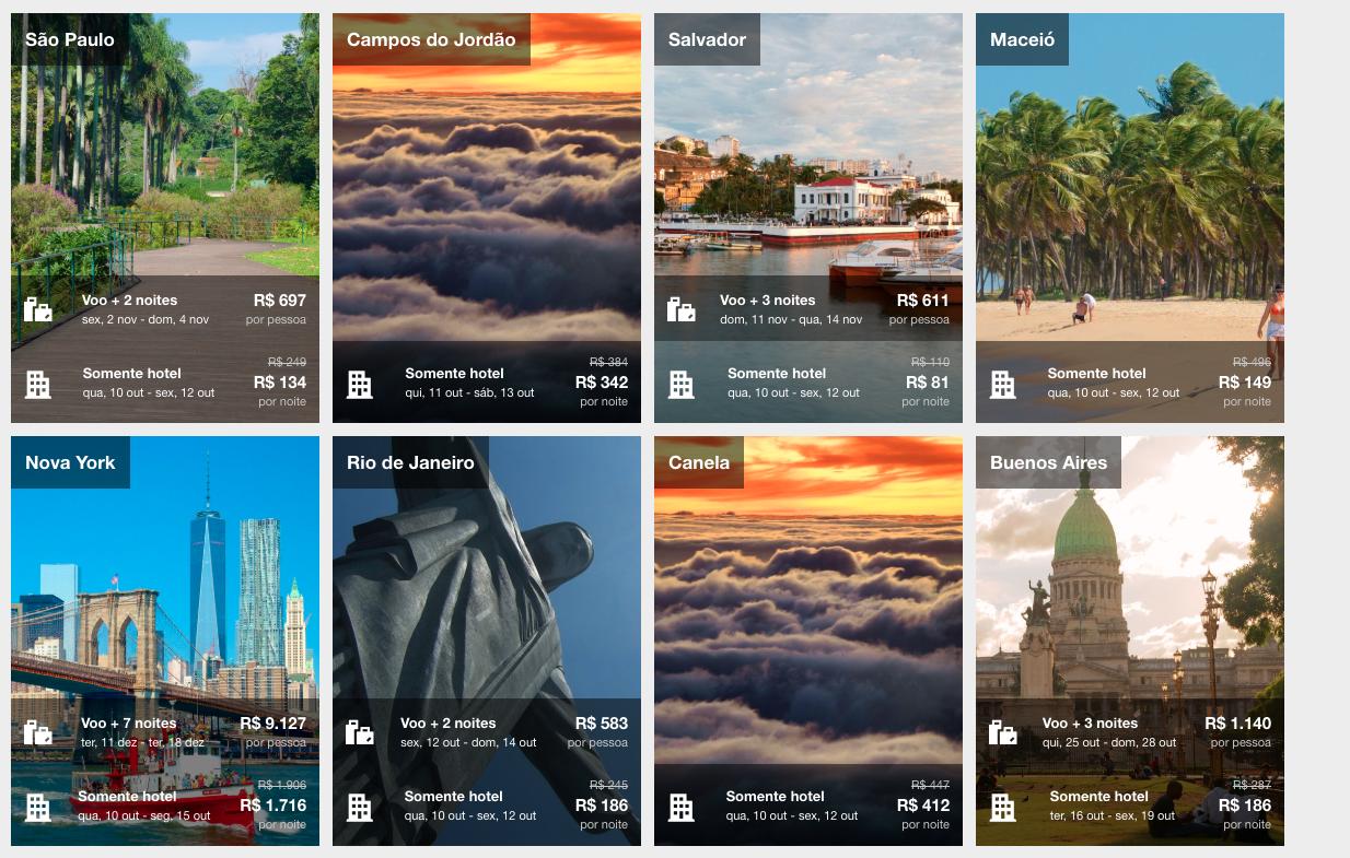 cupons de descontos e ofertas nos principais destinos na Expedia