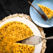 Receita de torta de maracujá sem lactose e sem açúcar
